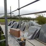 5500 slates are required to cover the arbour