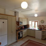 Well equipped kitchen overlooking the garden
